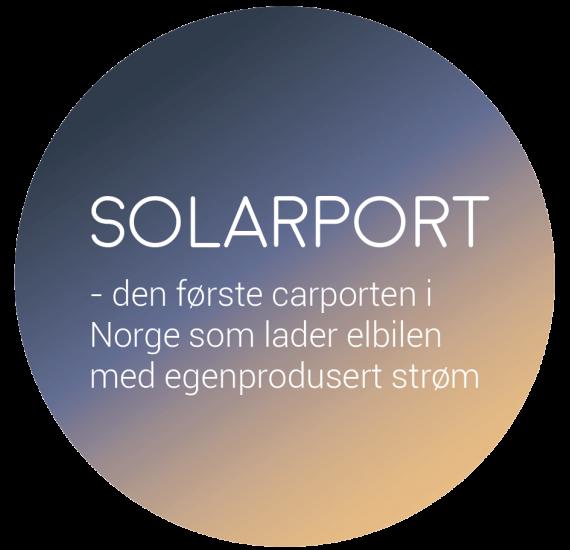 Solarport lader elbilen med egenprodusert strøm
